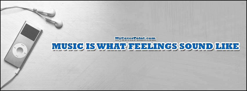 Feelings Sounds Like Music Facebook Cover
