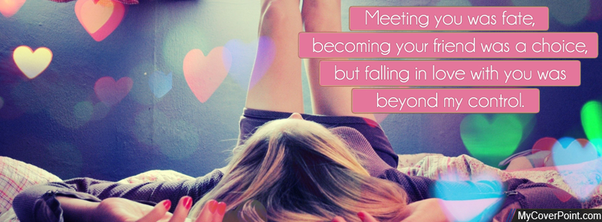 Girl Love Quote Facebook Cover