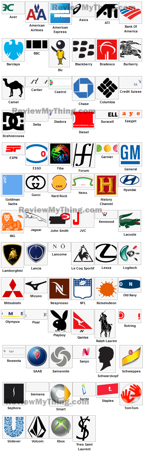 Logos Quiz Answers Level 5