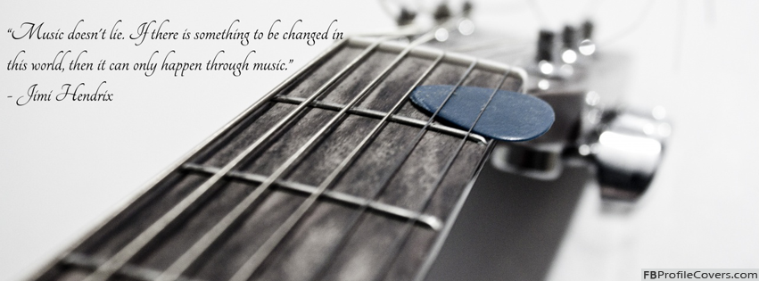 Music Does Not Lie Facebook Cover Wallpaper
