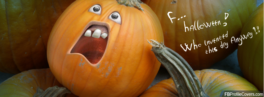 Pumpkin Hate Halloween Facebook Cover