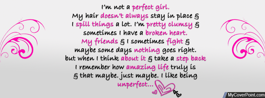 Unperfect Girl Facebook Timeline Cover