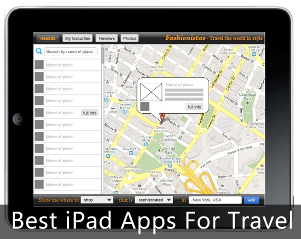 best travel apps for ipad