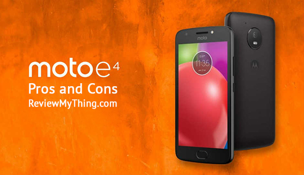 moto e4 pros and cons